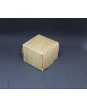 Beige small cardboard box